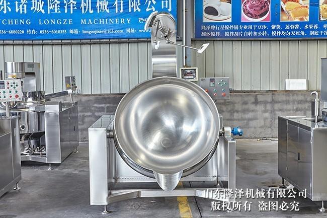 可倾搅拌夹层锅 电磁加热炒菜机